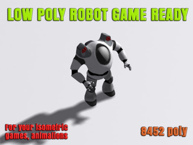 free robot ready games 3d model