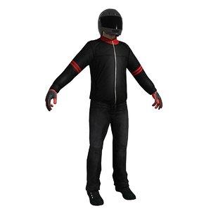 3d biker helmet model