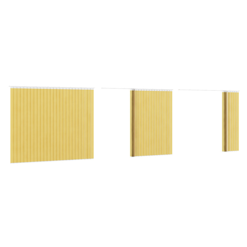 3d model vertical yellow blinds