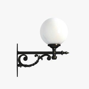3ds max wall lantern