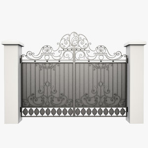 wrought iron gate obj