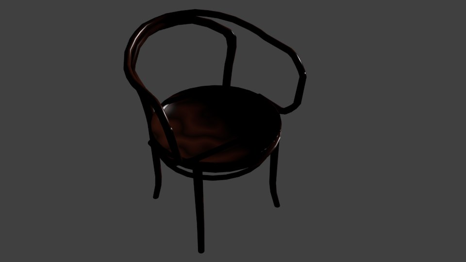 3d model chair blender