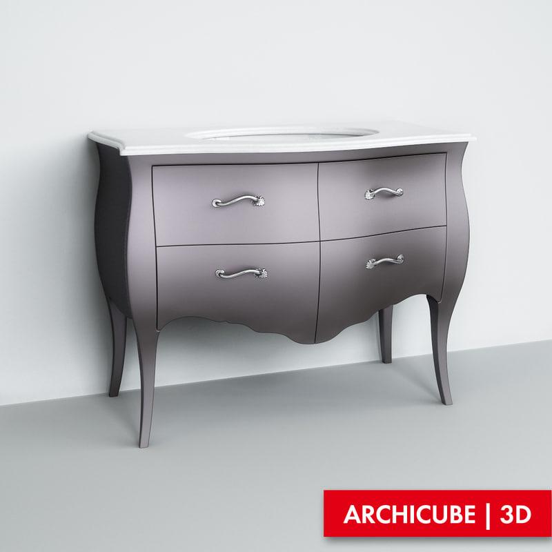 3d max washbasin basin