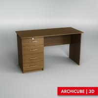 3d dresser drawer model