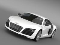 audi r8 2013 sports car 3d model