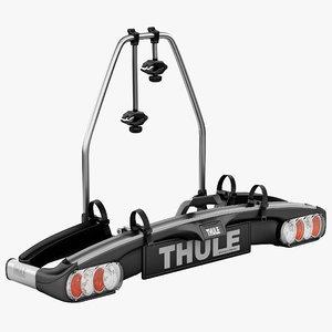 bike towball carrier thule 3d model