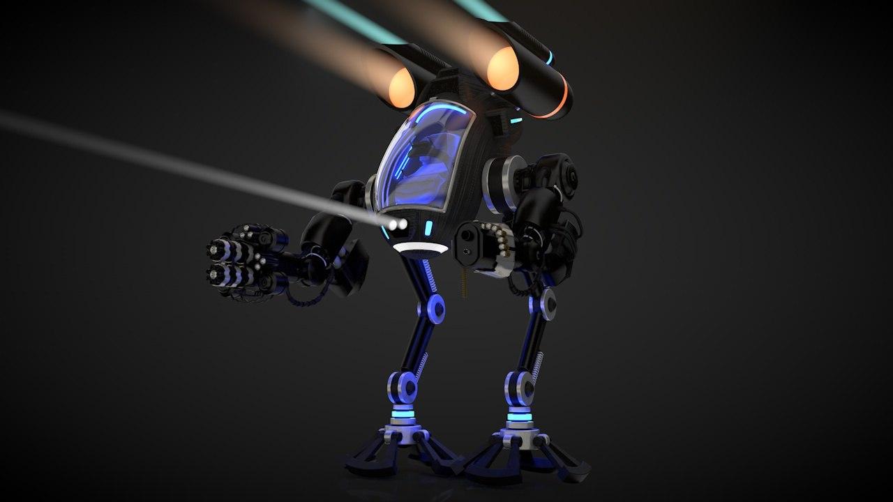 robot 03 cockpit 3ds free