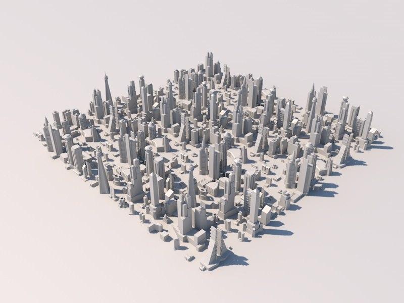 3d building pack model