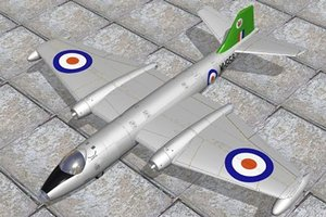 3d model canberra bomber
