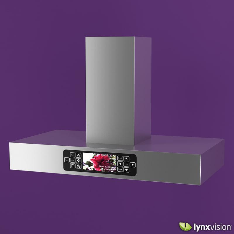 aluminum kitchen range hood 3d model