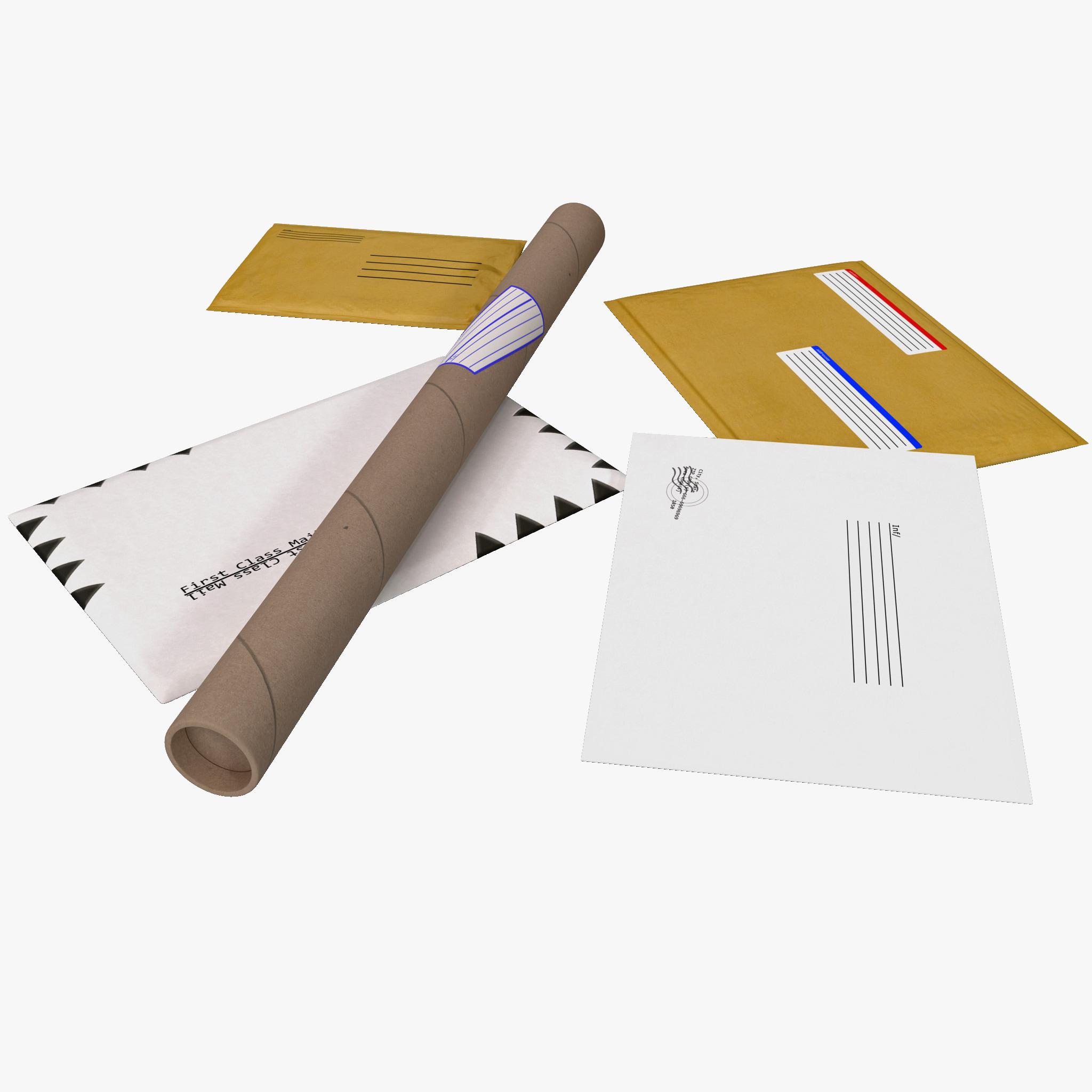 envelopes set obj