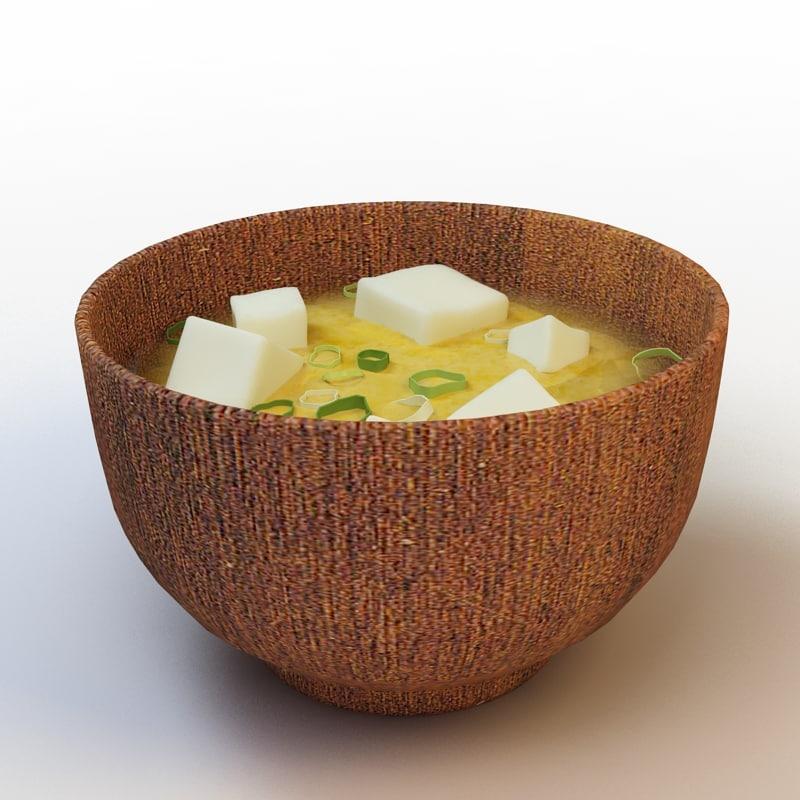 29 miso soup 3d model