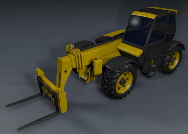 forklift loader terrain 3d model