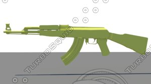 3ds max gold ak 47