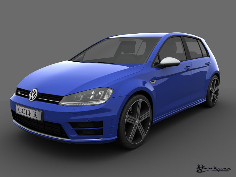 volkswagen golf r 5 3d model