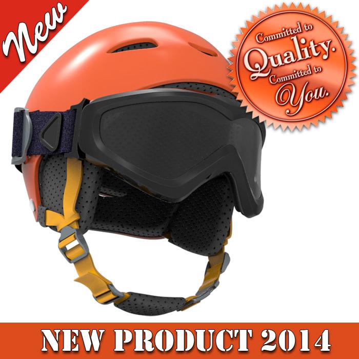 skiing helmet 3ds