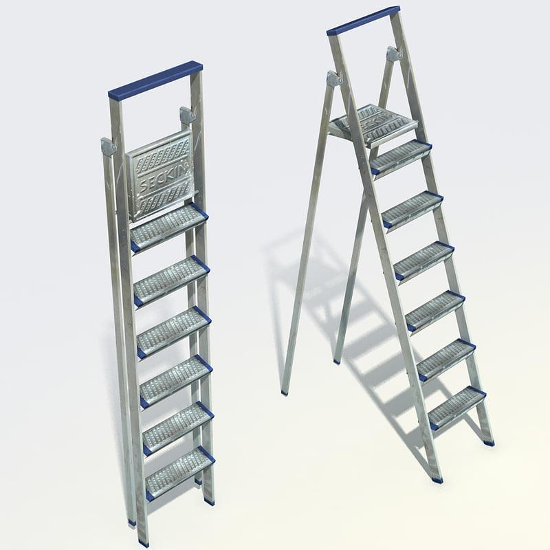 3d step ladder
