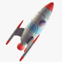 rocket retro 3d max