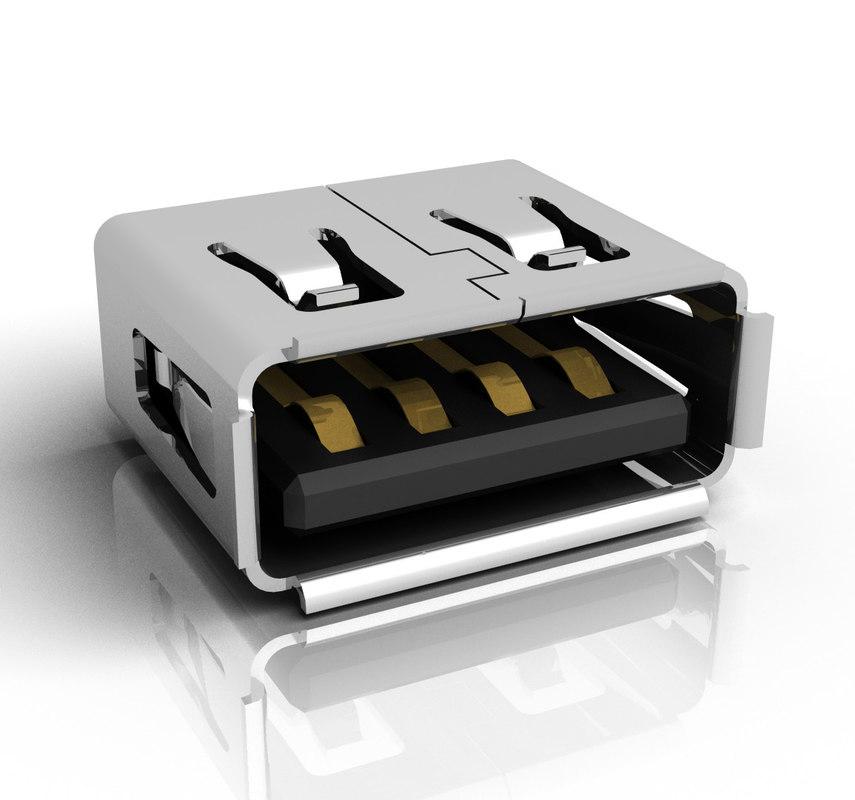 max usb female connector