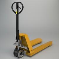 3d model pallet truck