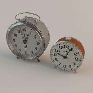 alarm clocks 3d max