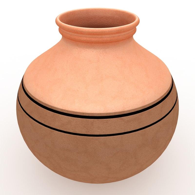 3d model water pot 3