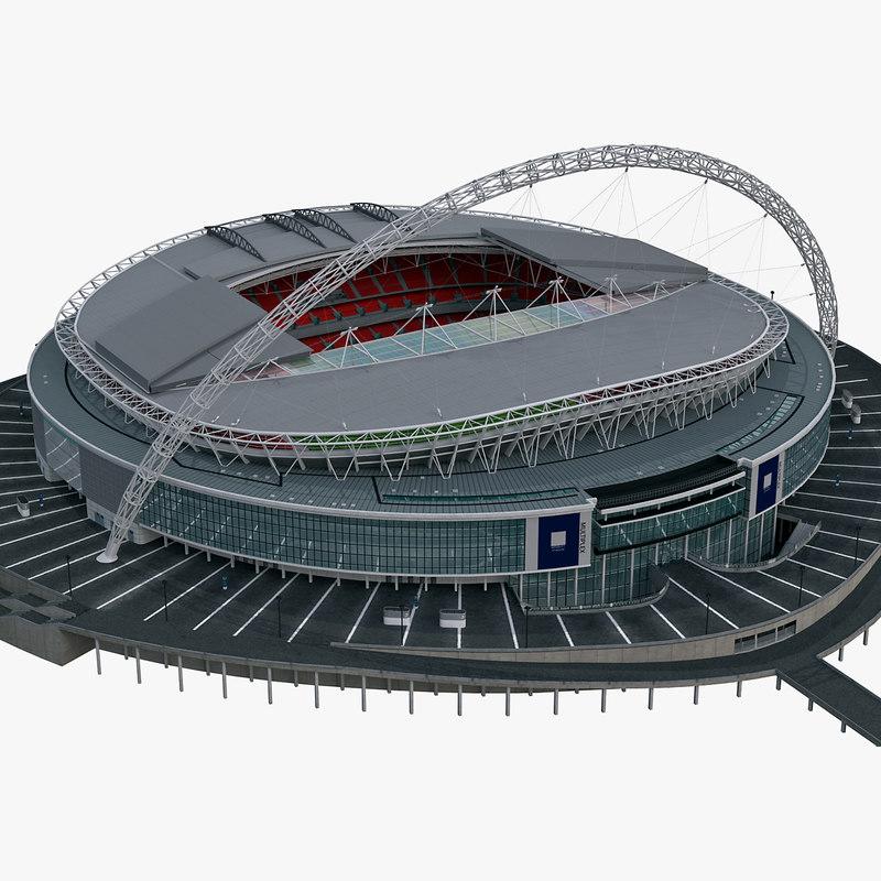soccer stadium wembley 3d max