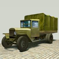 free zis-5v truck-van zis 3d model