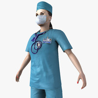 doctor nurse ready 3d model