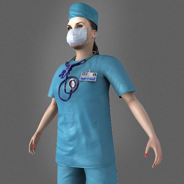 doctor nurse ready 3d model