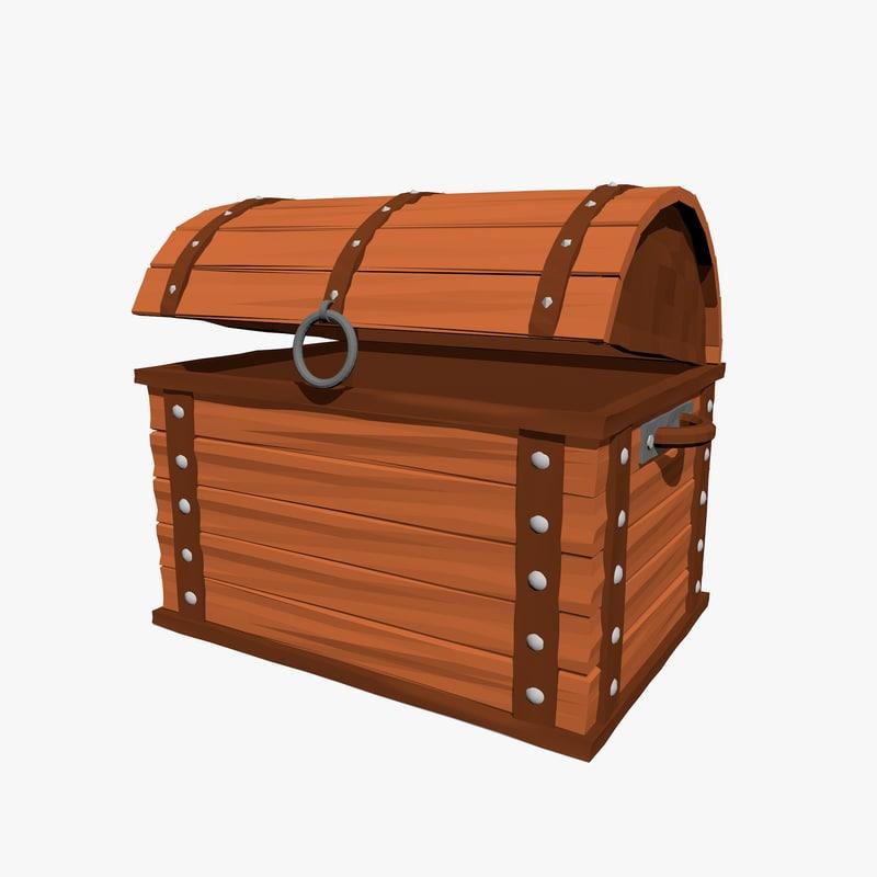 3d cartoon chest
