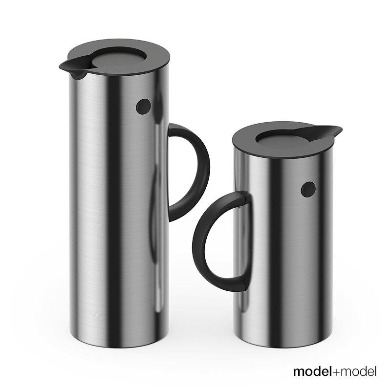 stelton em77 vacuum jugs 3d model