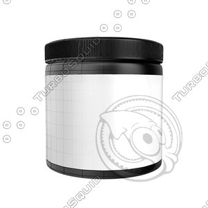 protein bottle obj