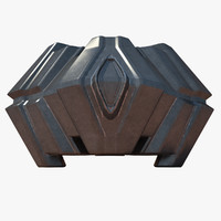 sci fi structure 3d model