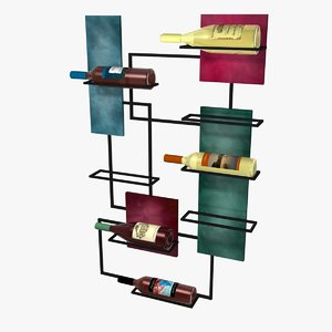 wine rack 3ds