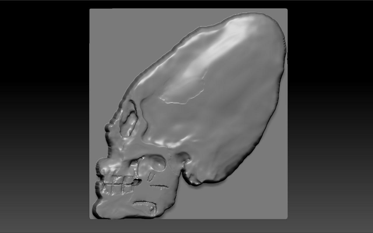 skull cnc obj