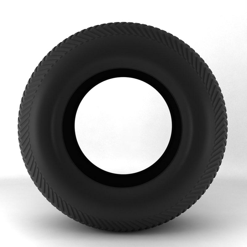 3ds max wheel tyre