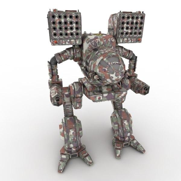 3d mechwarrior robot model