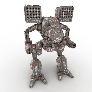 3d mechwarrior robot model