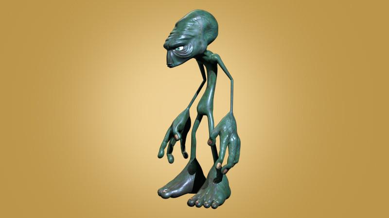 alien cartoon 3d max