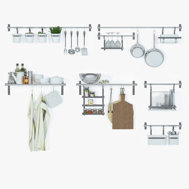 mikael grundtal series ikea 3d model. Black Bedroom Furniture Sets. Home Design Ideas