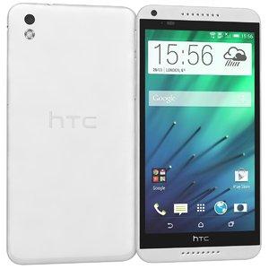 3d htc desire 816 white model