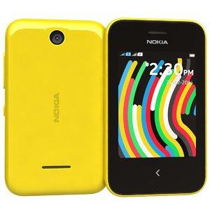3d nokia asha 230 yellow