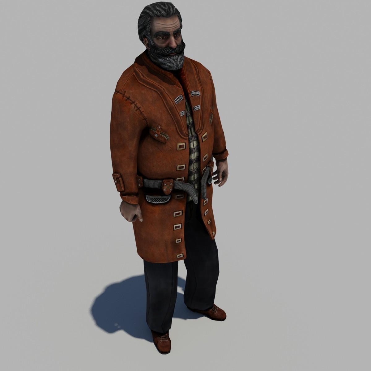 scientist character 3d max