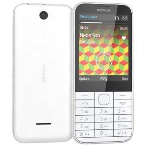 3d model nokia 225 white