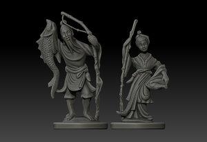 ivory statue 3d model