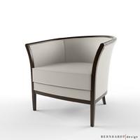 3ds max bernhardt design madeleine armchair