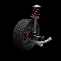 mcpherson suspension 3d model