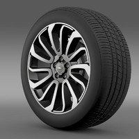 rangerover v8 wheel 3ds