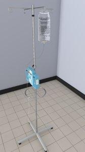 iv pump 3d model